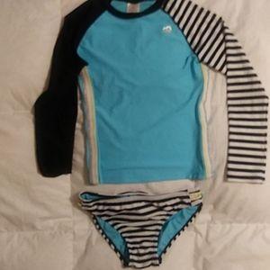 14 16 Colorblock Rashguard Tankini Swim Set NWT SKECHERS® Girls/' 8